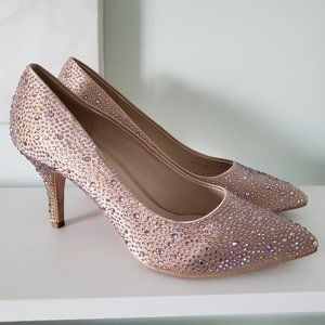 Champagne Sparkly heels